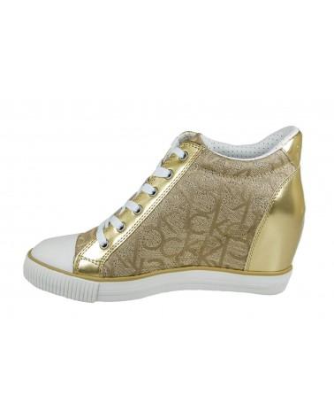 CALVIN KLEIN - sneakersy na koturnie