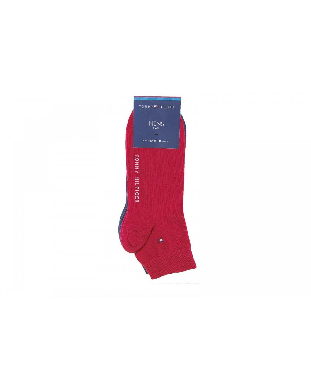 Skarpety TOMMY HILFIGER - 342025001 085 czerwony, granatowy