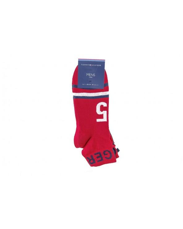 Skarpety TOMMY HILFIGER - 382004001 085 czerwony, granatowy