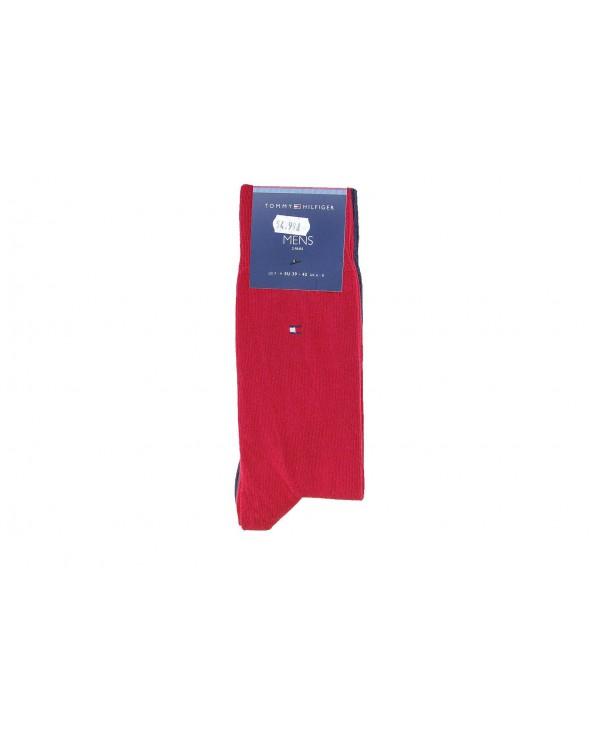 Skarpety TOMMY HILFIGER - 371111 085 czerwony, granatowy