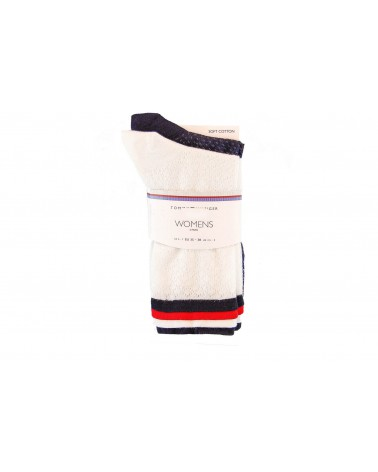 Skarpety TOMMY HILFIGER - 383002001 300 biały, granatowy