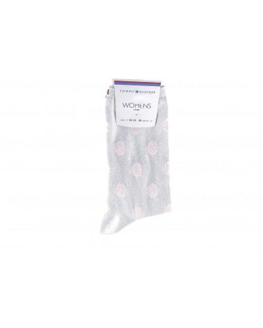 Skarpety TOMMY HILFIGER - 383011001 500 srebrny, różowy
