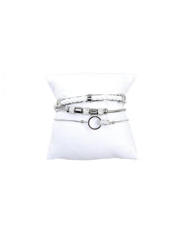 Bransoletka GUESS- UBS80039 srebrny, biały