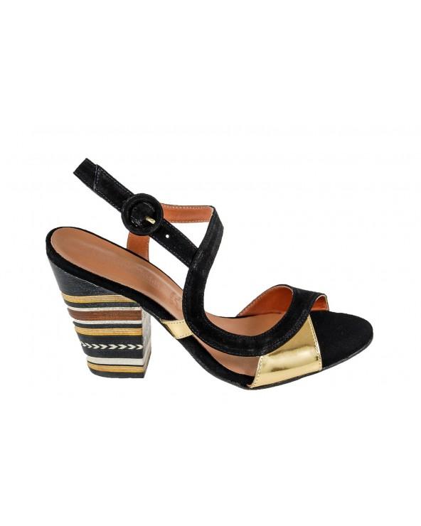 Sandały LORETTA VITALE - 50988 - czarny, złoty
