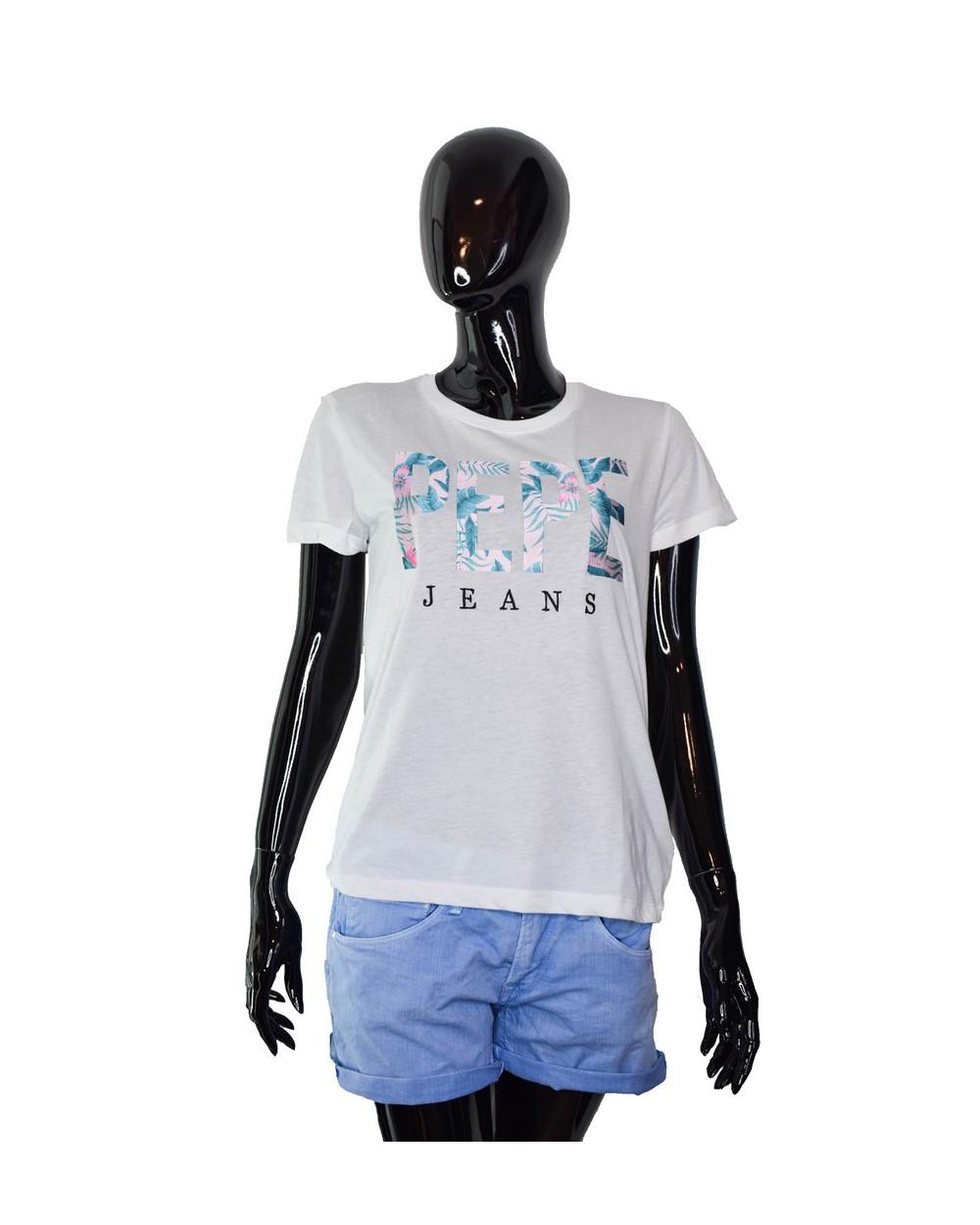 T-shirt PEPE JEANS - PL504083 biały