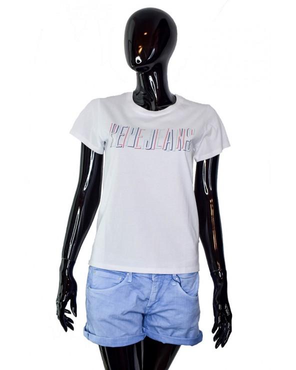 T-shirt PEPE JEANS - PL504044 biały
