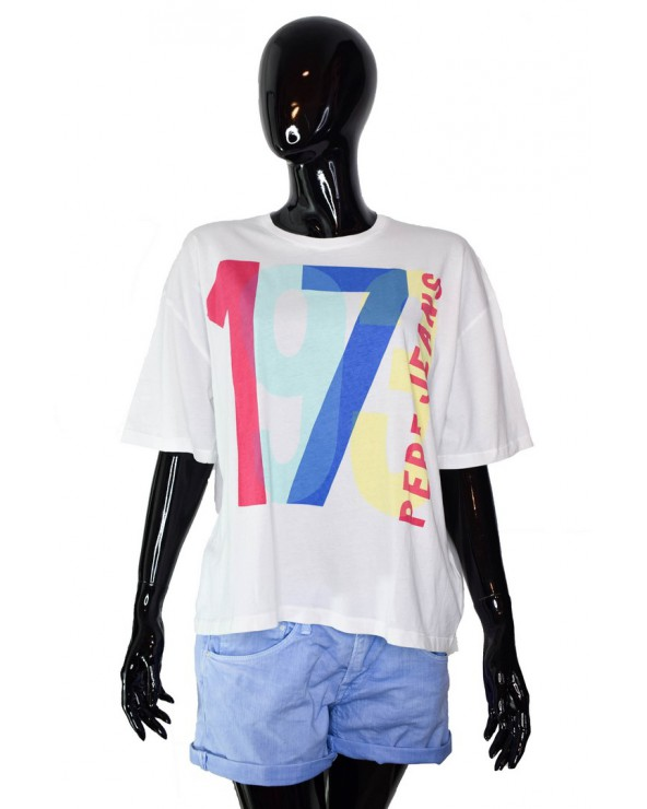 T-shirt PEPE JEANS - PL504085 biały
