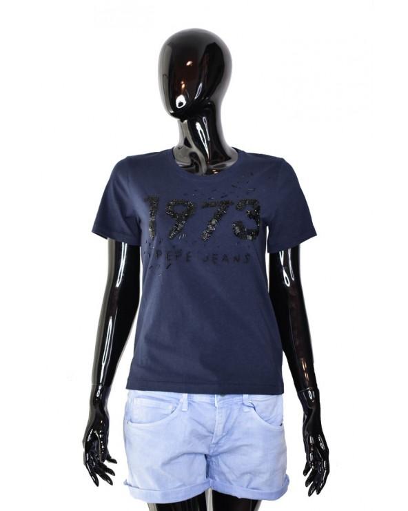 T-shirt PEPE JEANS - PL504066 granatowy