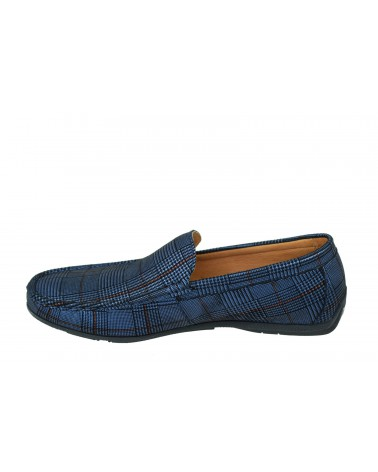 Mokasyny JOHN DOUBARE - 653A-3-H01 niebieski