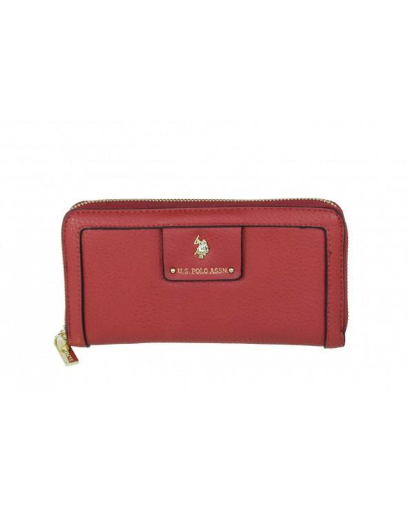 Portfel U.S. POLO ASSN - BEUPB0449WVP400 czerwony