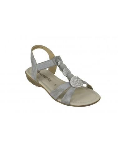 Sandały REMONTE - R3638-90 srebrny