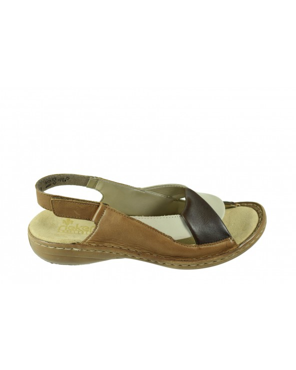 Sandały RIEKER - 60832-25 brązowy