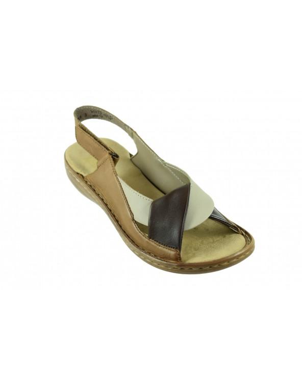 Sandały RIEKER 60832 25 brązowy
