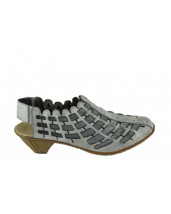 Półbuty RIEKER - 46778-40 szary