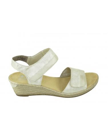 Sandały RIEKER - 62470-90 złoty