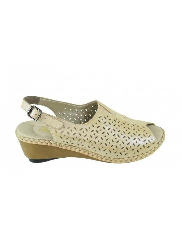 Sandały RIEKER - 66185-31 złoty