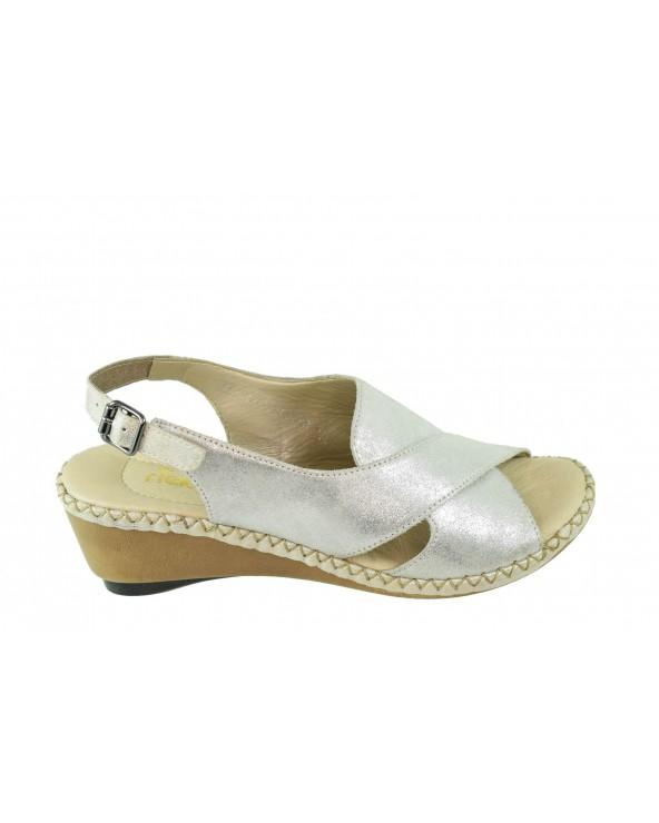 Sandały RIEKER - 66170-90 srebrny