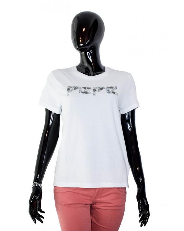 T-shirt PEPE JEANS - PL504061 biały