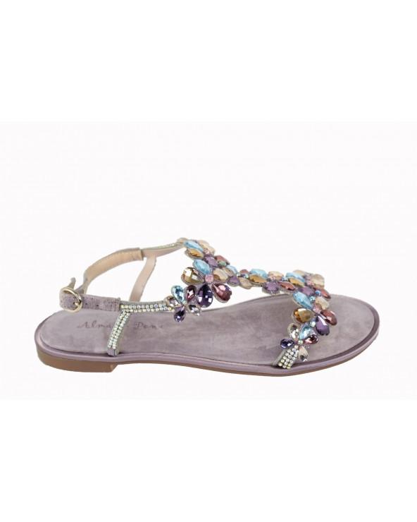 Sandały ALMA EN PENA - V19974 fioletowy