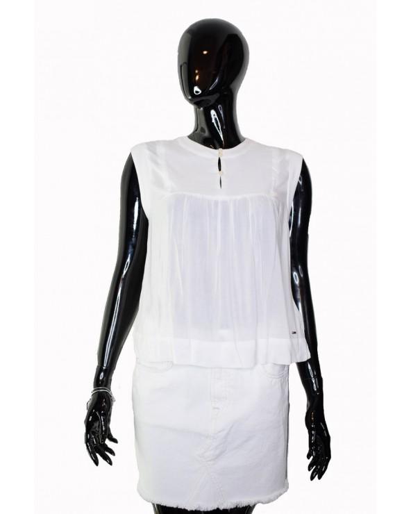 Bluzka Tommy Hilfiger - DW0DW06108 100 biały