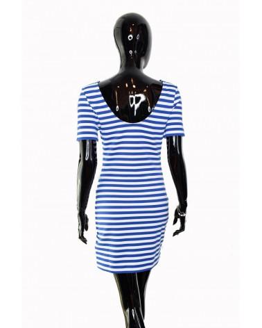 Sukienka TOMMY HILFIGER - DW0DW06174 434 niebieski, biały