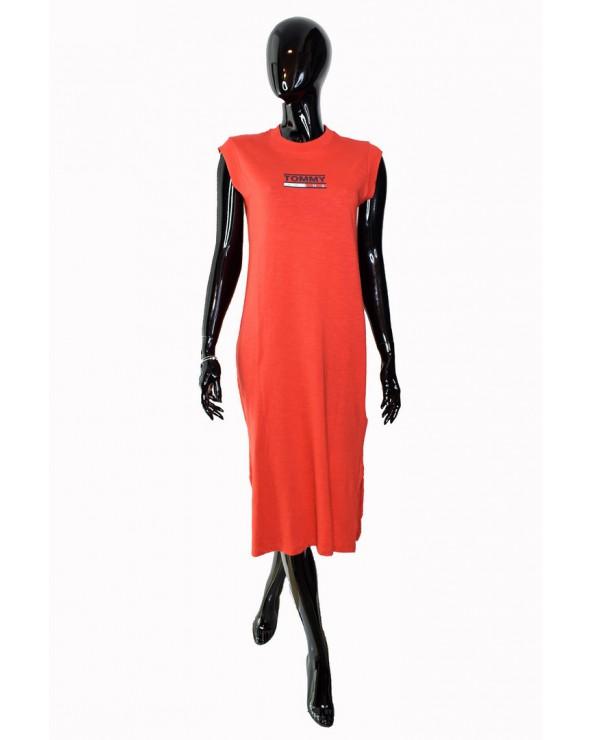 Sukienka TOMMY HILFIGER - DW0DW06175 667 czerwony