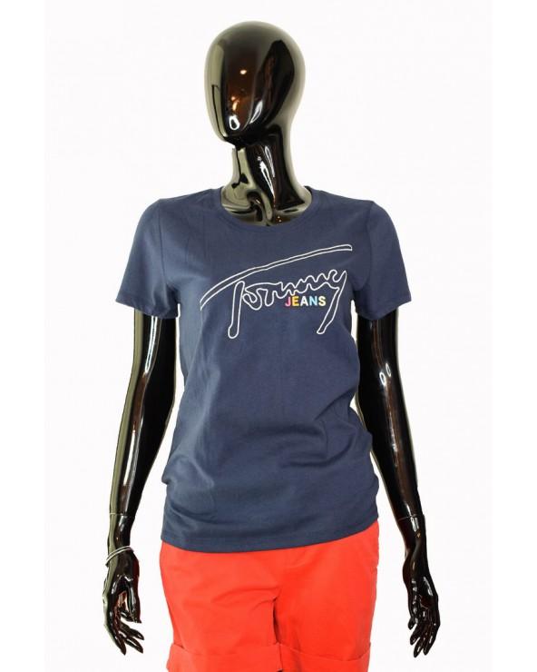 Koszulka Tommy Hilfiger - DW0DW06230 002 granatowy