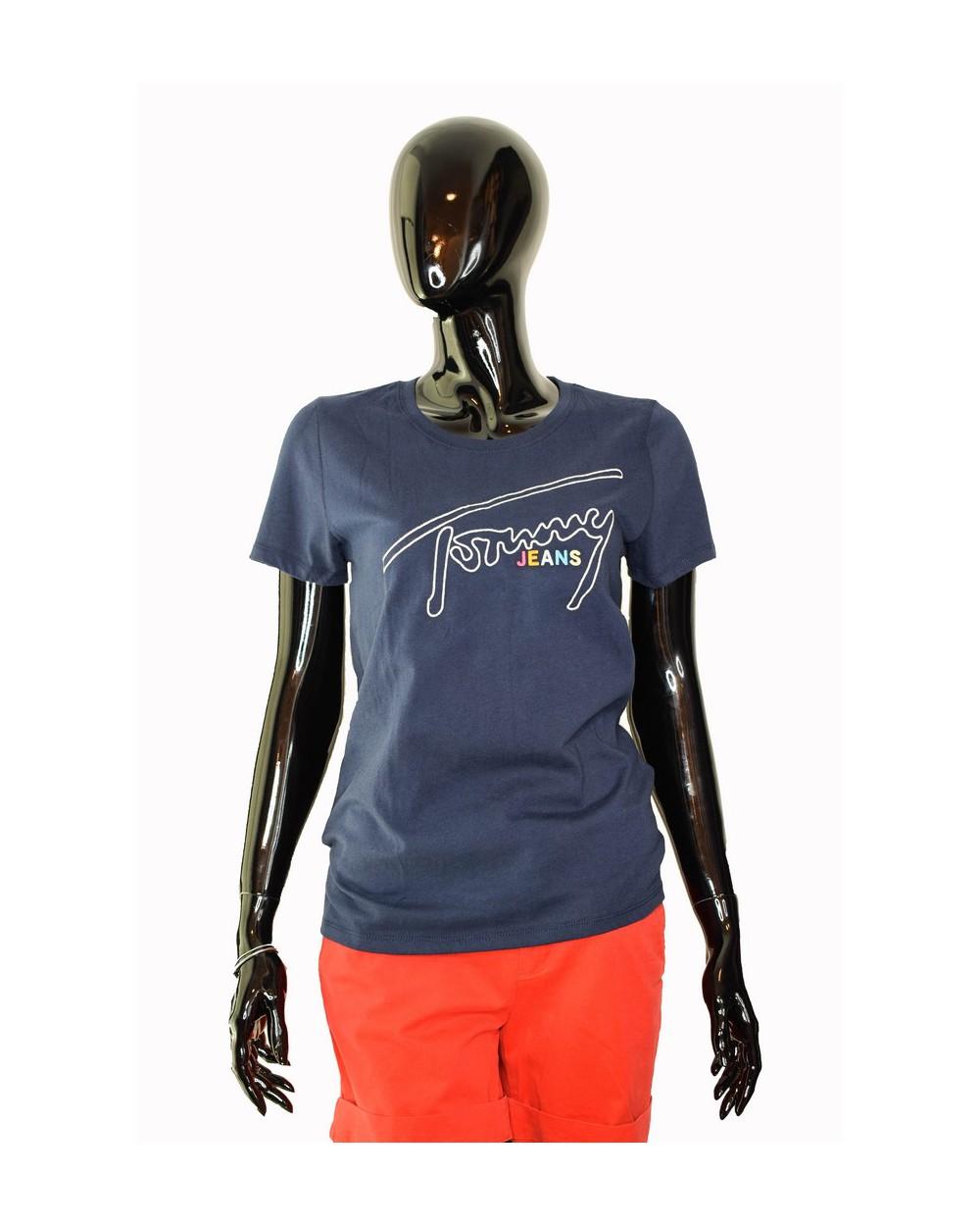 Koszulka Tommy Hilfiger DW0DW06230 002 granatowy