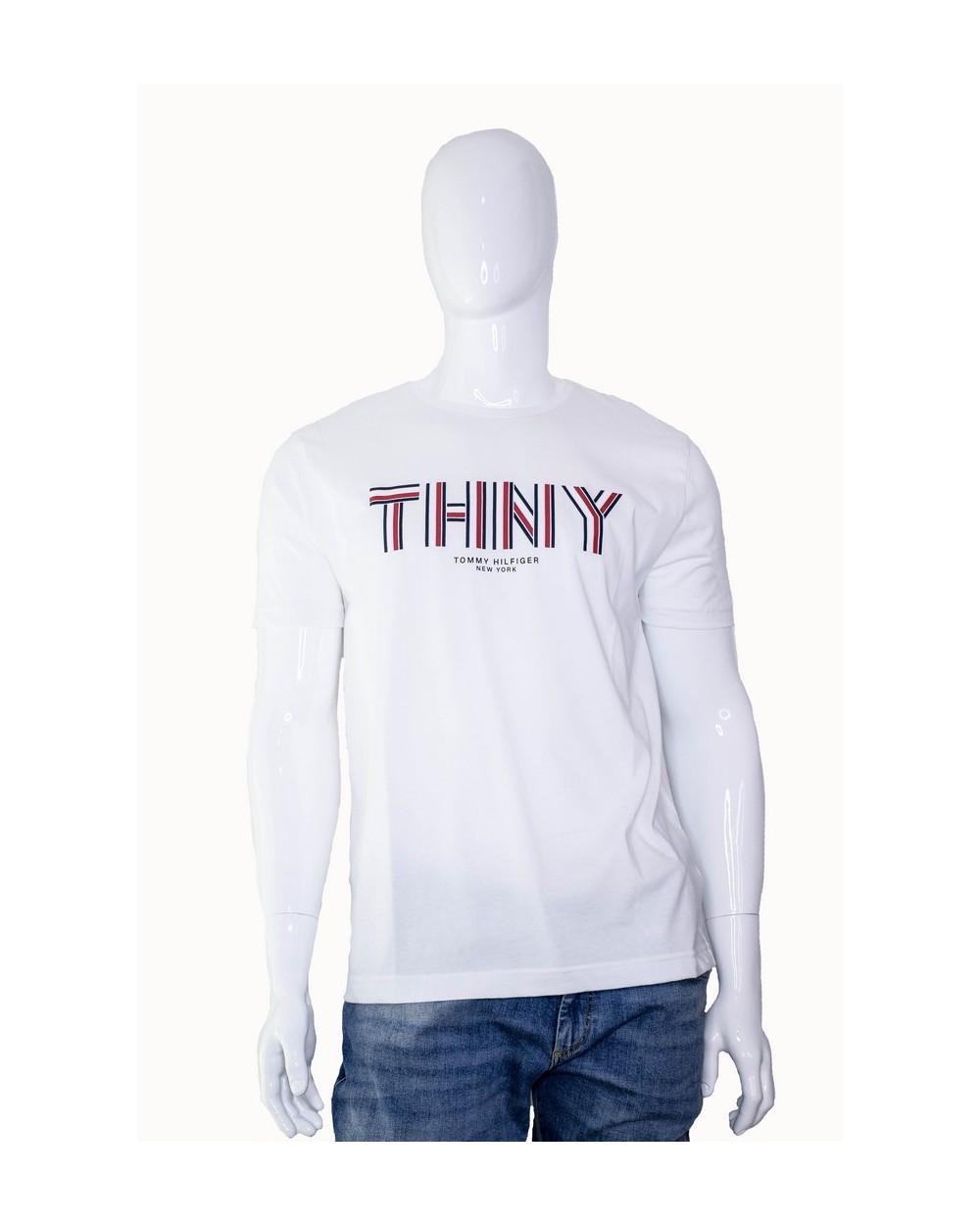 Koszulka TOMMY HILFIGER - MW0MW10363 100 biały