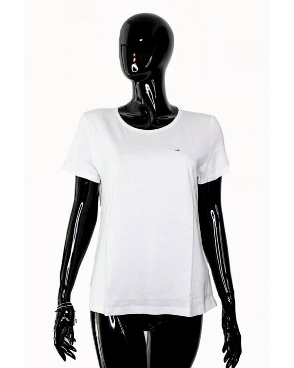 T-shirt TOMMY HILFIGER - DW0DW04709 100 biały