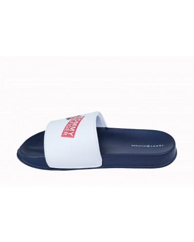 Klapki TOMMY HILFIGER - T3B0-30567-0754100 biały