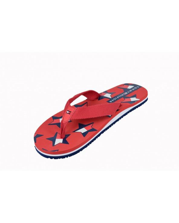 Japonki TOMMY HILFIGER - T3A0-30556-0058300 czerwony