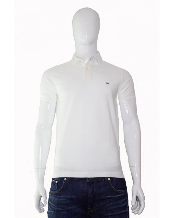 Koszulka polo TOMMY HILFIGER - 0867878624 100 biały