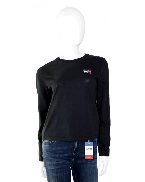 Bluzka TOMMY HILFIGER - DW0DW07433 BBU czarny
