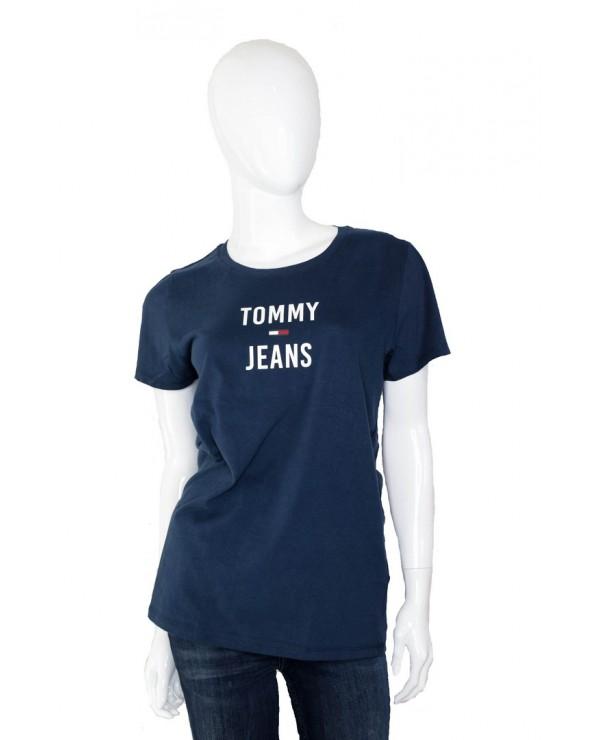 Koszulka TOMMY HILFIGER - DW0DW07155 CBK granatowy