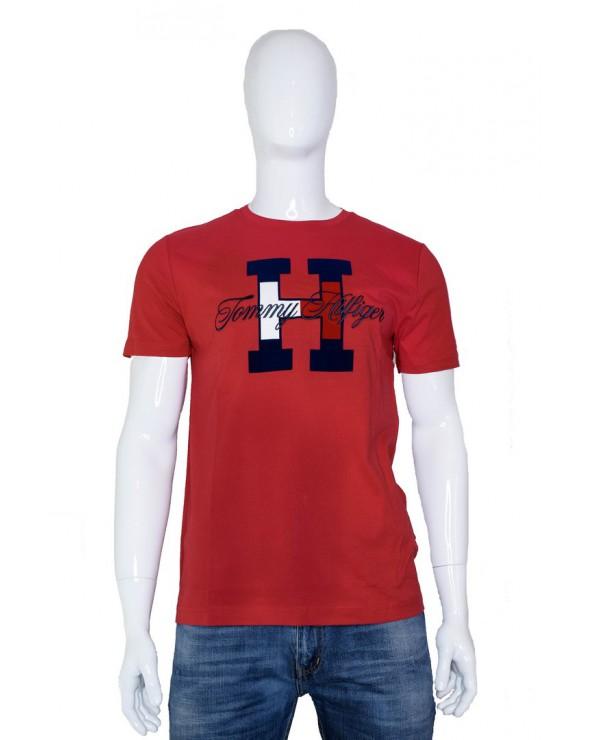 T-shirt TOMMY HILFIGER - MW0MW11799 XBE czerwony