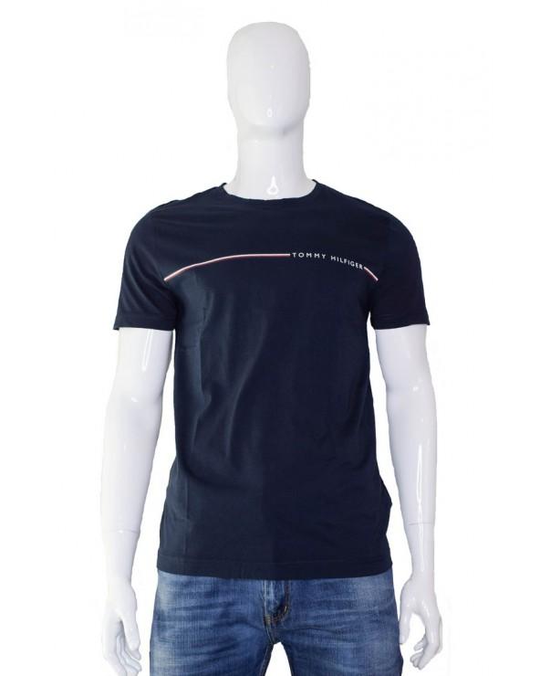T-shirt TOMMY HILFIGER - MW0MW11820 CJM granatowy