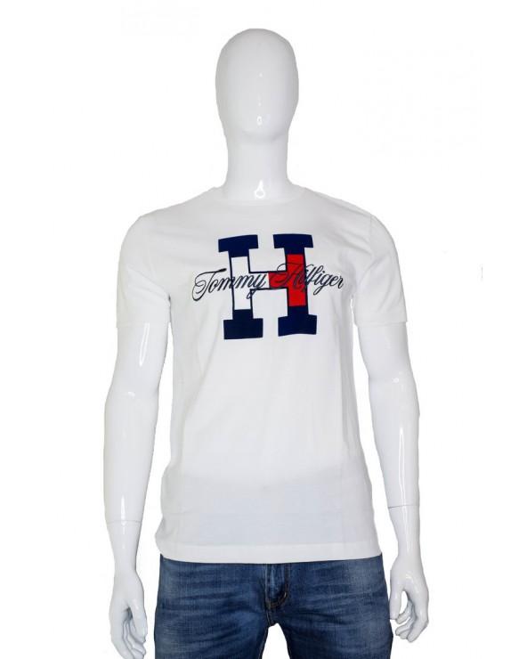T-shirt TOMMY HILFIGER - MW0MW11799 YAF biały