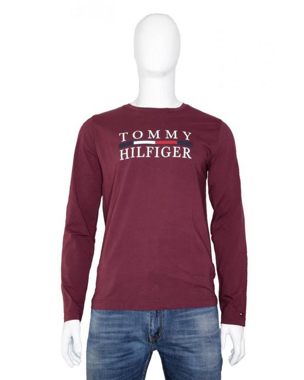 Bluzka TOMMY HILFIGER - MW0MW11801 XUU bordowy