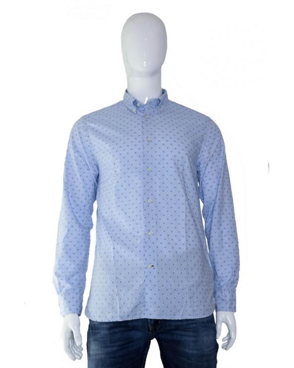 Koszula TOMMY HILFIGER - MW0MW11534 CI6 niebieski