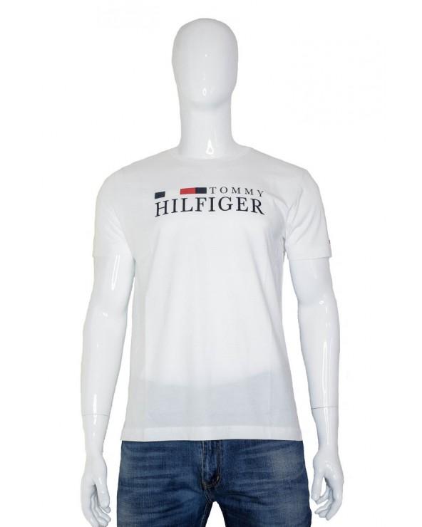 T-shirt TOMMY HILFIGER - MW0MW11795 YAF biały