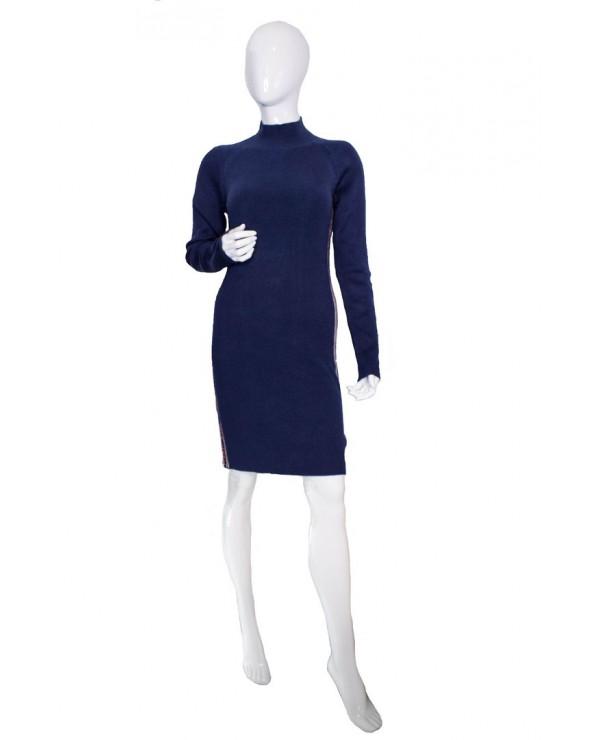 Sukienka TOMMY HILFIGER - DW0DW07200 CBK granatowy