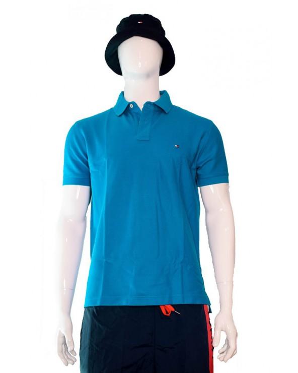 Koszulka Polo TOMMY HILFIGER - MW0MW10766 C22 niebieski