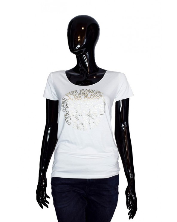 T-shirt PEPE JEANS - PL504435 biały