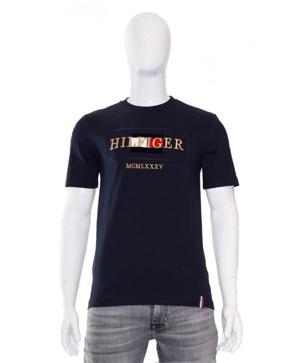 Koszulka TOMMY HILFIGER - MW0MW13342 DW5 granatowy