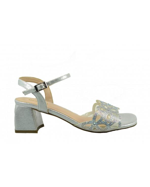 Sandały MENBUR 21249 0009 - srebrny