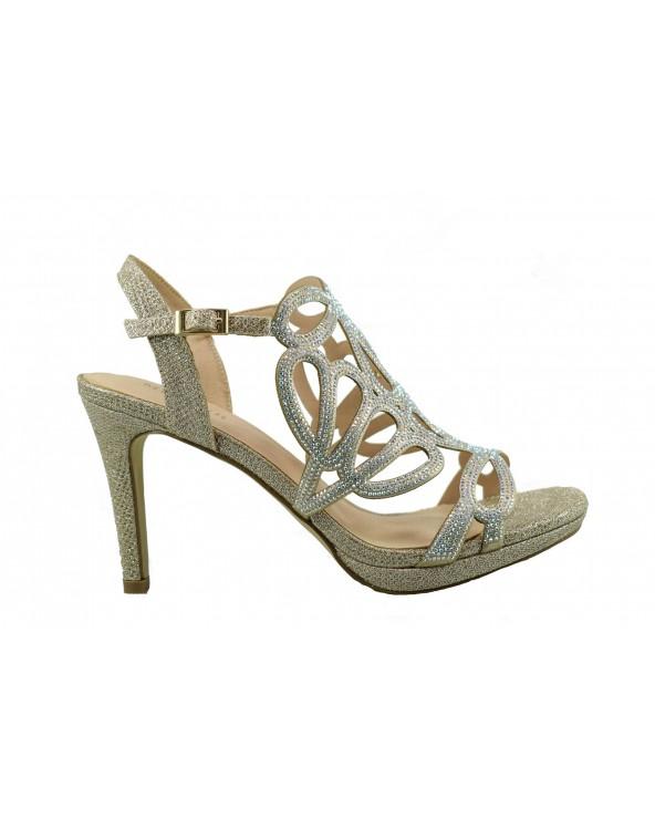 Sandały MENBUR 21589 0087 - złoty