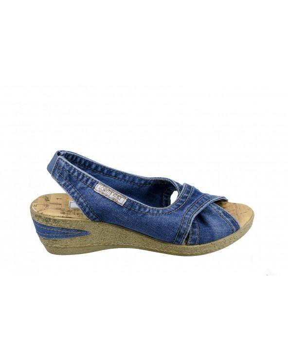 Sandały LORETTA VITALE - 5058-016 niebieskie