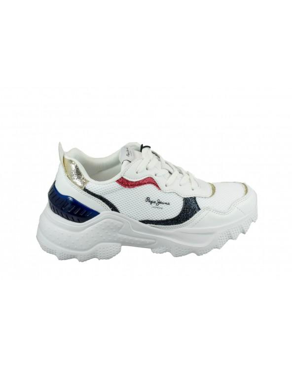 Sneakersy PEPE JEANS - PLS31000 biały