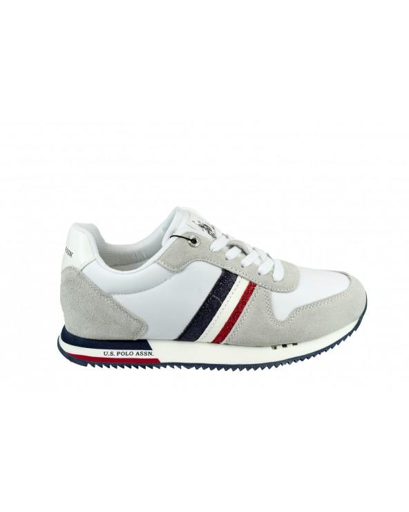 Sneakersy U.S POLO ASSN - CORA4205W9/TS1 biały